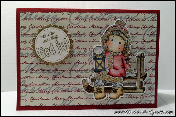 TILDA IN WINTER NIGHT Magnolia Rubber Stamp Merry Little Christmas Collection 2010