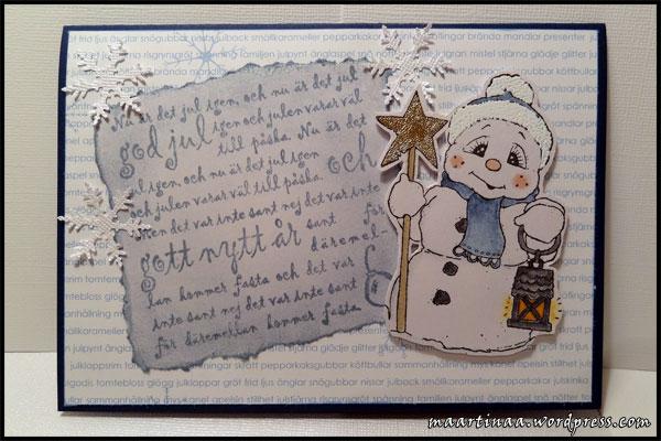 Forma Hantverk, Snowman with star Magnolia