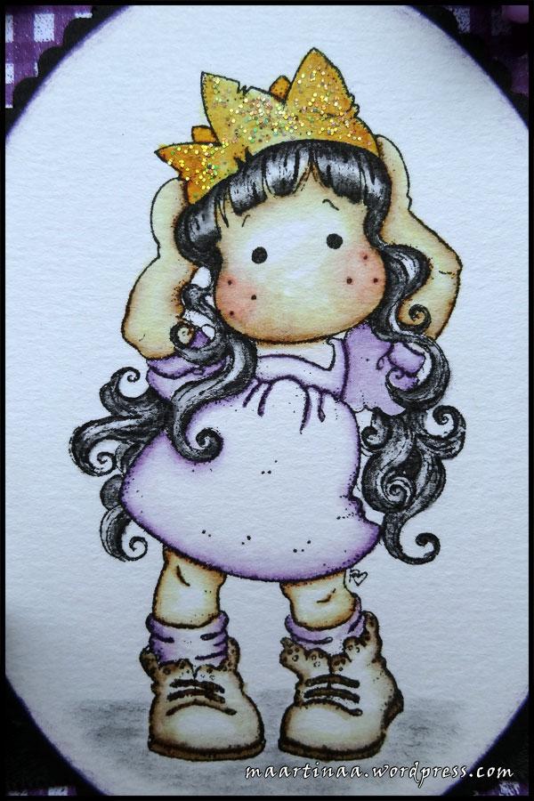 Princess Party TIlda Magnolia svart hår black hair