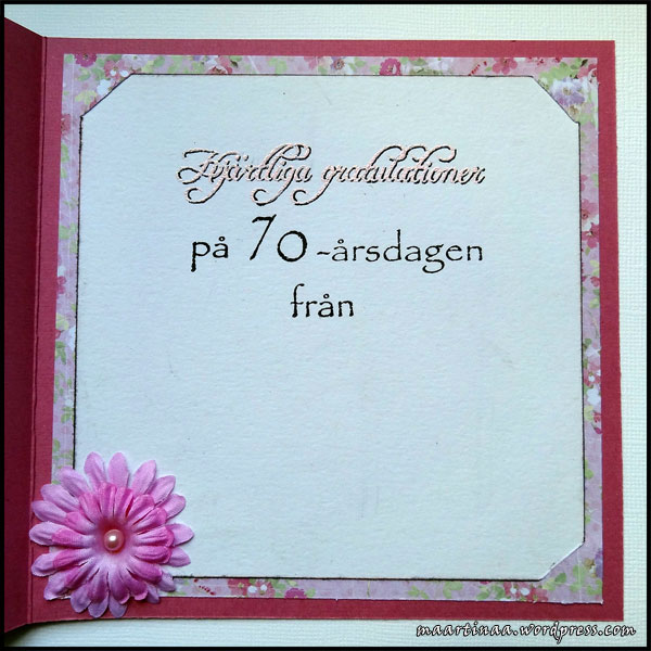 70 års gratulationer Mammas 70 årskort | Martinas lilla värld 70 års gratulationer