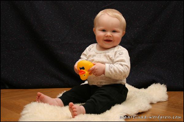 Oliver nio månader