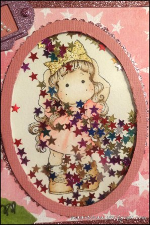 Magnolia Princess Party Tilda Shaker card