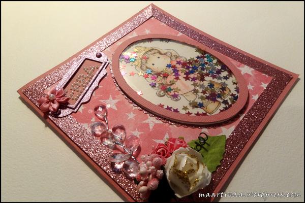 Magnolia Princess Party Tilda Shaker card