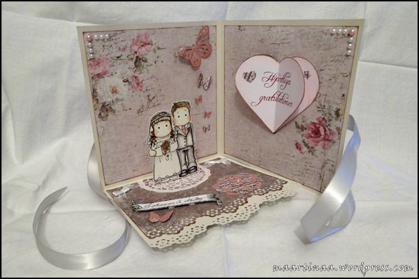Bridal Couple, Magnolia, Wedding Collection, bröllop, bröllopskort, wedding card, pop-up card