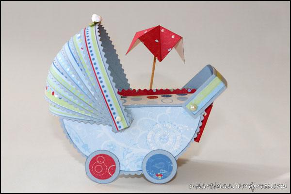 barnvagn scrapbooking papper paper craft